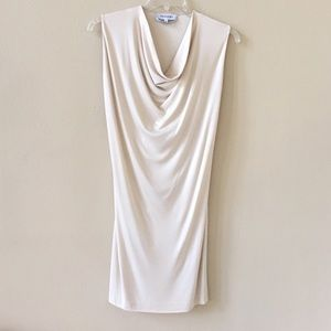 YSL Vintage Cowl Neck Sleeveless Dress